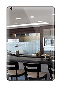 Ultra Slim Fit Hard GrayAnnys Case Cover Specially Made For Ipad Mini/mini 2- Modern Kitchen With Long Banquette Seating