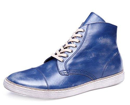 CSDM Scarpe da sposa casual di cuoio genuino del cuoio genuino di di cuoio di cuoio genuino della punta del puntino di cuoio , blue , 38
