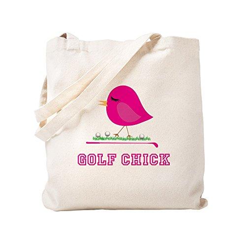 CafePress - Golf Chick - - Natural Canvas Tote Bag, Cloth Shopping Bag
