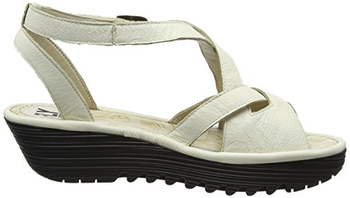 Elfenbein Rand728fly Sandlen White London Damen Off Wedge 006 FLY FzwUXZqg