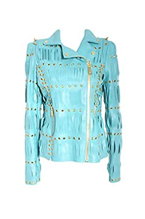 JDC Blue Polyester Stuffed Jackets For Women