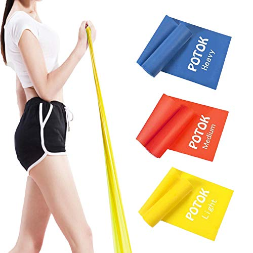 Syliver Resistance Exercise Band Kit- 1.2M - Strength Training & Conditioning - Pilates - Resistance Bands for Mobility Strength & Rehab Premium Quality, 3Pack