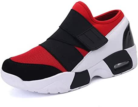 Leader Show Men's Fashion Breathable Cushioning Sneaker Sports Velcro Running Shoe