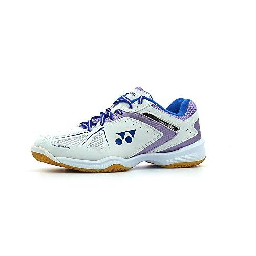 Yonex Femme Puissance Coussin 35(Blanc/lavande) Chaussures de badminton pour femme, femme, LADIES SHOES POWER CUSHION 35 ( blanc/lavande