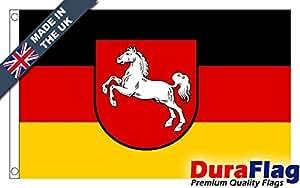 duraflag® Bandera de baja Sajonia Calidad Premium–3ft x 2ft