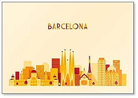 Imán para nevera de Barcelona, España Skyline: Amazon.es: Hogar