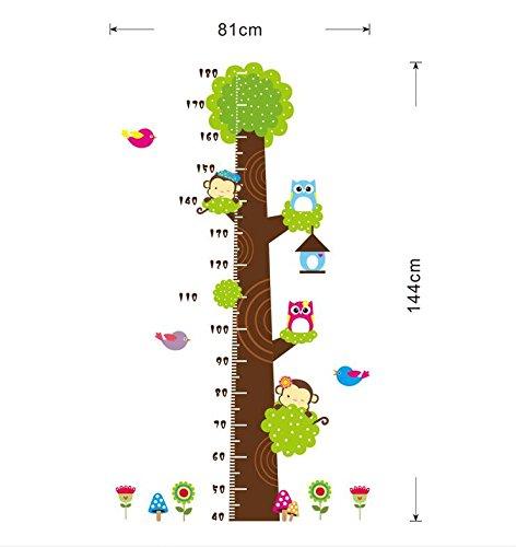 Ari_Mao Children's Room Kindergarten Height Tree Wall Sticker