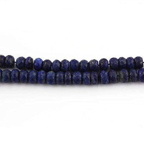 Big Halloween Sale 1 Strand Lapis Lazuli Faceted Rondelles - Lapis Roundelle Beads 9mm 15.5 inches Long SB2442 ()
