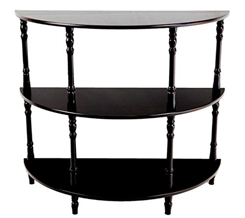 Amazing Buys - 3 Tier Shelf - Half Moon Console Table in A Cherry Finish
