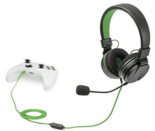 Snakebyte Head Set X - On Ear Stereo Headset for Gaming Consoles with detachable Mic, Inline Control, Wired 3.5Mm Headphone for Use with PC, Laptop, Xbox One, Switch, PS4 - Xbox One