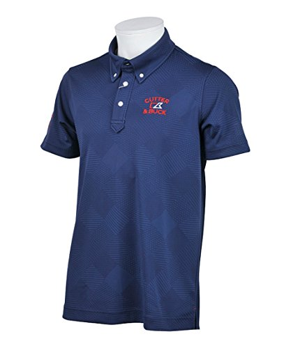 (カッターアンドバック) CUTTER&BUCK ボタンダウン半袖ポロシャツ メンズ CGMLJA12 サンスクリーン 2018年春夏 ゴルフウェア LL ネイビー