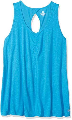 (Rainbeau Curves Women's Plus Size Juliette Tank, Vivid Ocean 26/28)