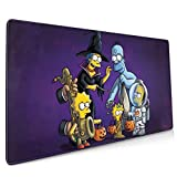 The Simpsons Mouse Pad Rectangle Non-Slip Rubber Electronic Sports Oversized Large Mousepad Gaming Dedicated,for Laptop Computer & PC 15.8X35.4 Inch