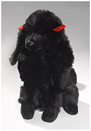 Carl Dick Poodle Black, 12 inches, 30cm, Plush Toy, Soft Toy, Stuffed Animal 3267 ()