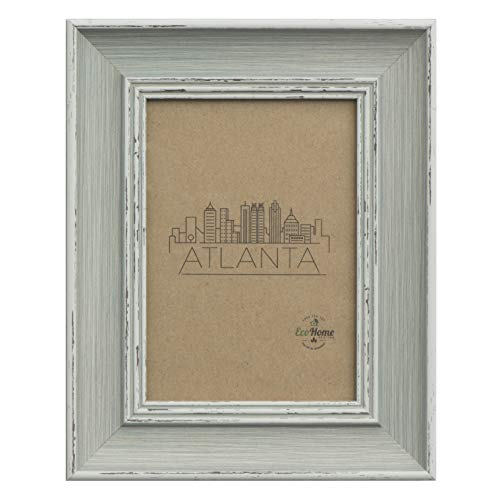 (4x6 Picture Frame Distressed Grey - Wall Mount/Desktop Display, Frames by EcoHome)
