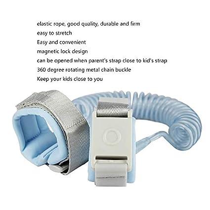 Azul Beb/é Anti-perdida Cuerda de tracci/ón Seguridad para ni/ños Mu/ñequera Seguridad para ni/ños Arn/és para caminar