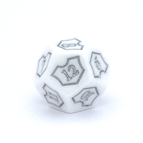 MTG D12 Spin-Down Loyalty Counter Die by Hedral – 25mm – Magic: The Gathering TCG CCG Planeswalker (White)
