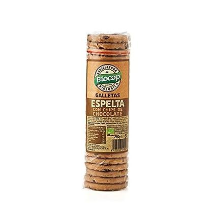 Galletas de Espelta con Chips de Chocolate Biocop, 250 g