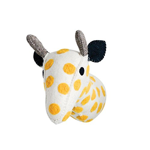 - Creative Co-op Stuffed Animal Giraffe Trophy Head Wall Decor