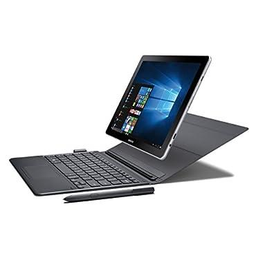 """Samsung Galaxy Book 10.6"""" Windows 2-in-1 PC (Wi-Fi) Silver, 4GB RAM/64GB storage, SM-W620NZKBXAR"""