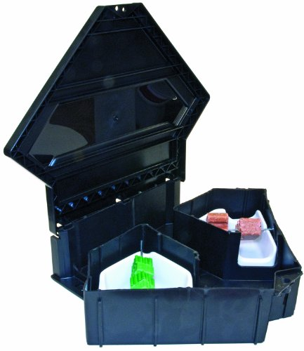 JT Eaton 903TP Rat Fortress Plastic Tamper Resistant Bait Station with Solid Lid, 14'' Length x 17-1/8'' Width x 4-1/8'' Height (Case of 6) by J T Eaton
