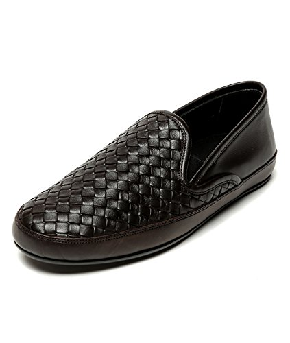 wiberlux-bottega-veneta-mens-real-leather-woven-slip-on-shoes-41-dark-brown