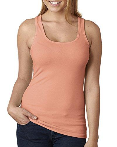 siguiente nivel mujer la camiseta espalda cruzada–Tanque 6633 Naranja claro