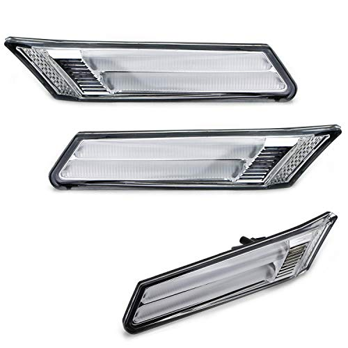 Porsche 997 Carrera Cabriolet - iJDMTOY Clear Lens Xenon White LED Front Sidemarker Lamps For 05/06-12 Porsche Carrera 911 Cayman Boxster, CANbus Error Free Decoders Included