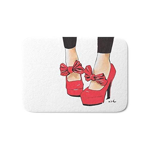 NfuquyamDoormat Door Mat Non Slip, Door Mat, Kitchen Bathroom Floor Carpet Mat, Let's Dance Bath Mat 15.7