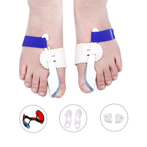 Bunion Corrector, Bunion Splints and Bunion Relief for Hallux Valgus, Big Toe Joint,Adjustable Bunion Splint Protector Sleeves kit F or Women and Men,7 pcs