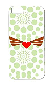 Anti-drop Love Wings Heart Hearts Love For Iphone 5c Bronze Winged Heart Case Cover