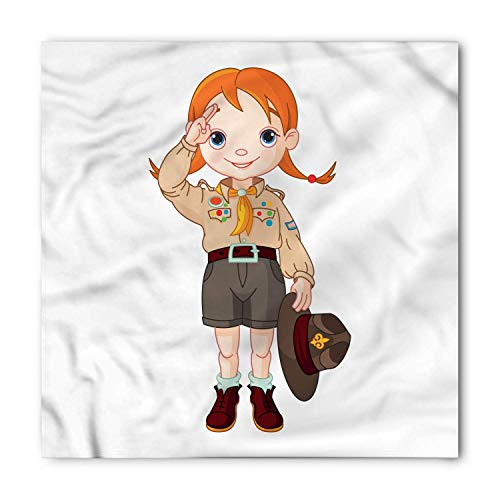 (Girl Scouts Bandana, Cartoon Little Ranger, Unisex Head and Neck Tie)