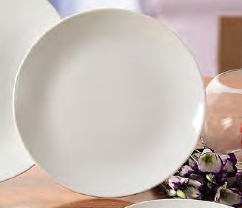 CAC China COP-16 Coupe 10-Inch Super White Porcelain Plate, Box of 12 by CAC China (Image #2)