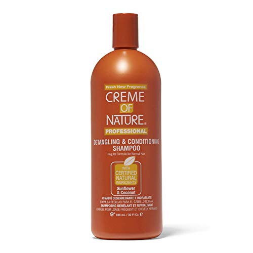 Creme of Nature Detangling Conditioning Shampoo for Normal Hair, Sunflower and Coconut, 32 Ounce