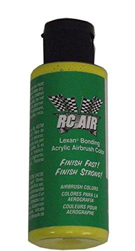 Airbrush Lexan Paint - Badger RCA-321 Rc Air Radio Control Lexan Lemon Yellow 2 oz Airbrush Paint