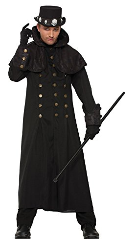 Black Robe Costume Uk (Forum Men's Costume Warlock Coat, Multi/Color, One Size)