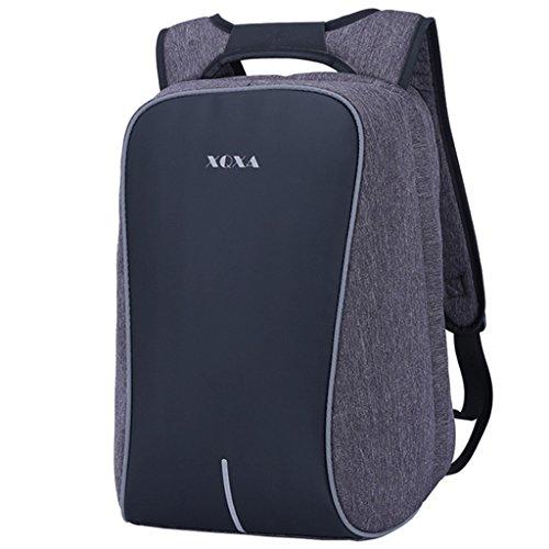 supamodern Nylon anti robo Laptop Backpack Mochila cambiador con tiras reflectantes Bolsa de viaje extraíble con equipaje...