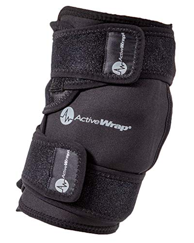 AW ACTIVEWRAP Knee Ice Pack Wrap for Knee Pain ACL Injuries with Reusable Hot Cold Packs - Large / Extra Large