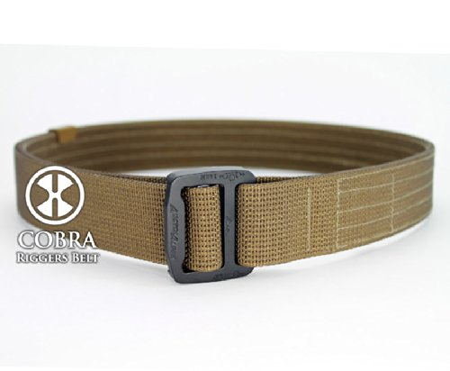 ACTIVE HANDGUN TRAINER'S 1.5 Inch Carry Belt with AustriAlpin Frame Buckle in Coyote Tan