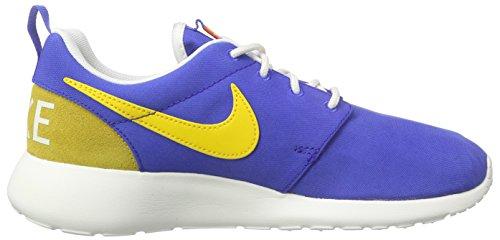 Nike Damen Roshe One Retro Laufschuhe Blau (Blau/Gelb/Weiß)