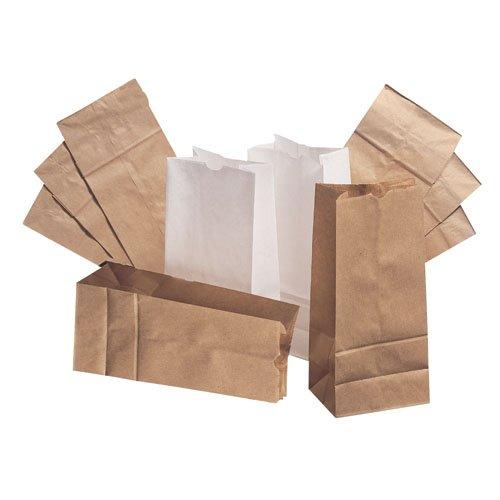 Paper Bags & Sacks 8# Bleached Paper Bag 500/Bundle (BAGGW8-500) Category: Paper Bags
