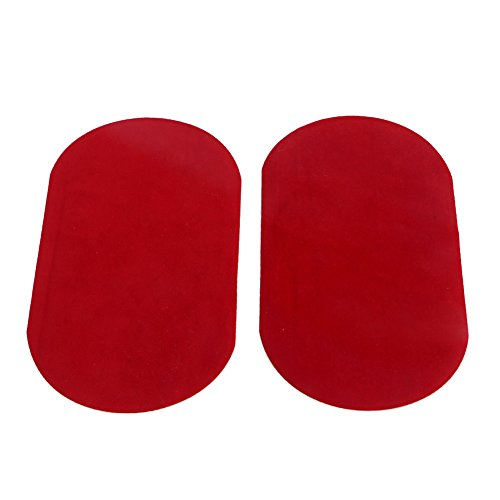 MEXUD Sewing Applique With 2X Iron-on Elbow Knee Repair Decor Faux Suede For Leather Patches (Red)