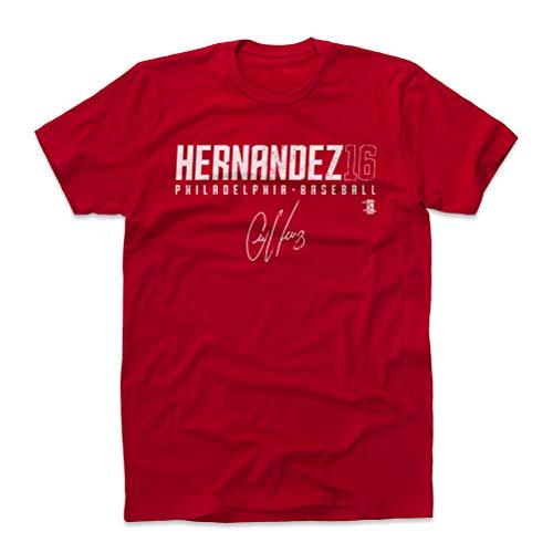 500 LEVEL Cesar Hernandez Cotton Shirt XXX-Large Red - Philadelphia Baseball Men's Apparel - Cesar Hernandez Hernandez16 R WHT