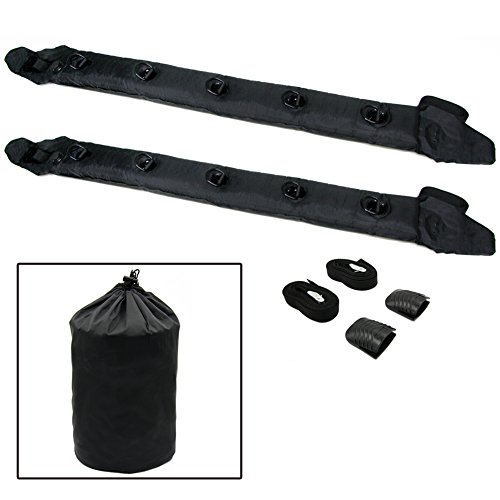 TIROL New Pair Universal Auto Inflatable Top Air Roof Rack Cargo Kayak Luggage Carrier Holder