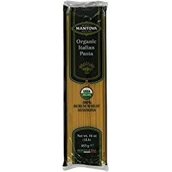 Mantova Italian Organic Pasta, 16-Ounce Bags (Pack of 10)