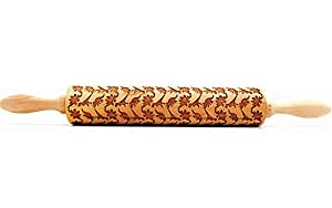 Embossing Rolling Pin Dinosaur Pattern for Cookies Laser Engraved Decorating