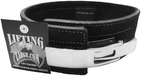 Powerlifting Belt with Lever Buckle – Weightlifting – Crossfit Medium 29-37 in