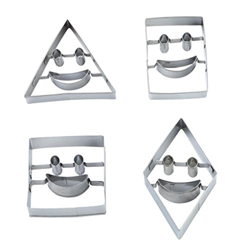 4PCS Bear Pattern Cake and Cookie Cutter Mold with Plunger - 3