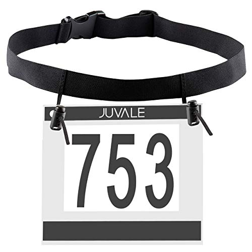 Juvale 6-Pack Running Bib Number Holder Belt for Runners, Triathlon, Marathon, and Cycling, Adult Size (Buckle Number)