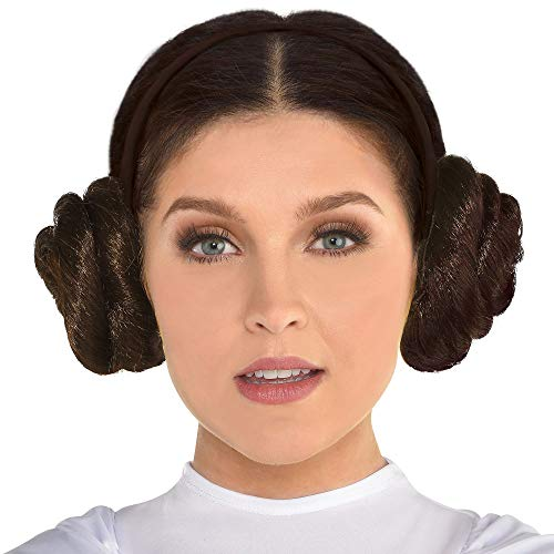 Princess Lea Buns (SUIT YOURSELF Star Wars Princess Leia Buns Headband for Adults, Measures 4 Inches by 4 1/2 Inches, Get Her Classic)